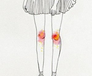 drawing, art, and knees image