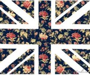 flowers, england, and flag image