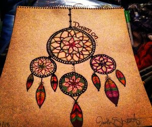 drawings and dream catcher image