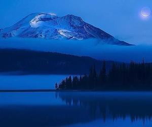amazing, lake, and moon image