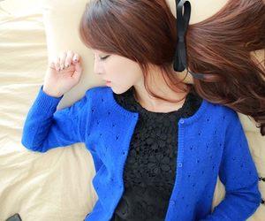 ulzzang, blue, and korean image