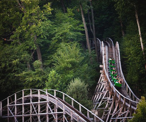green, rollercoaster, and Roller Coaster image