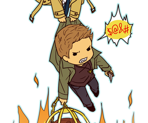 chibi, dean winchester, and sam winchester image
