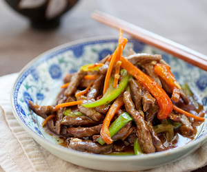 beef, chinese, and meat image