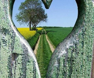 peephole, love, and beauty image