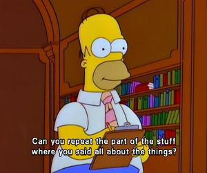 funny, quote, and simpson image