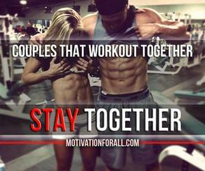 fitness, lovers, and abs image