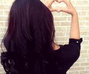 black, girl, and heart image
