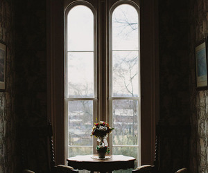 study, view, and high window image