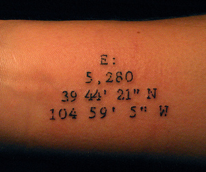 denver, numbers, and tattoo image