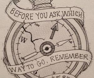 quotes, compass, and tattoo image