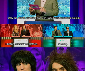 russell brand, funny, and noel fielding image