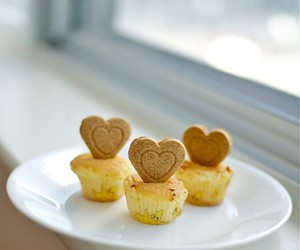 cheese, heart, and cupcake image