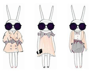 fashion, bunny, and sunglasses image