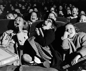 kids, black and white, and cinema image
