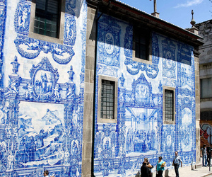 portugal, blue, and art image