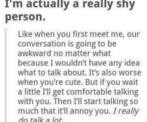 shy, awkward, and quote image