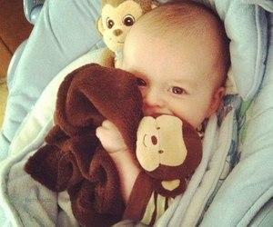 baby, kids, and monkey image