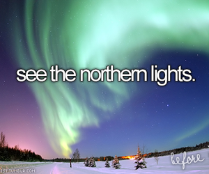before i die, bucket list, and northern lights image
