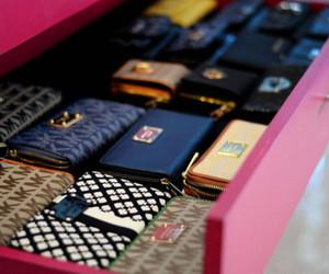 fashion, wallet, and Michael Kors image