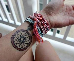 tattoo, bracelet, and dreamcatcher image