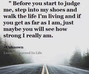 quote, life, and judge image