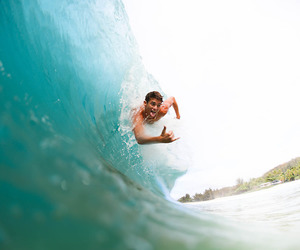 beach, summer, and surfer image