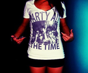 party, girl, and shirt image