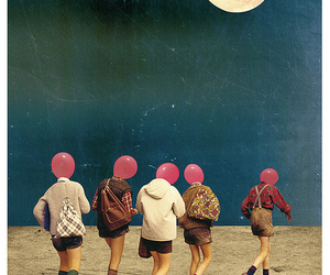 moon, art, and Collage image