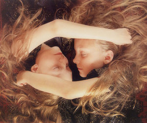 twins, photography, and blonde image