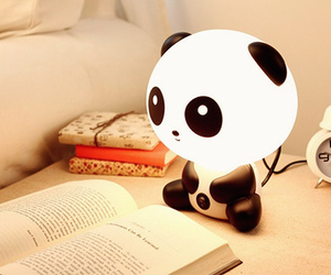 panda, cute, and book image