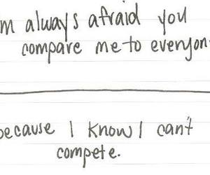 quotes, compare, and afraid image