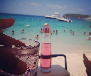 beach, drink, and people image