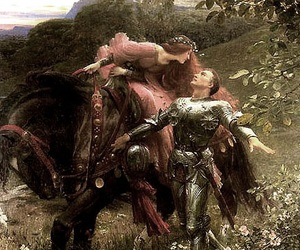 art, knight, and painting image