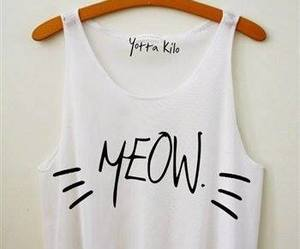 meow, cat, and clothes image