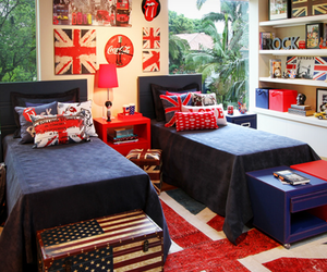 london, room, and bedroom image