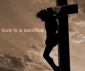love, sacrifice, and god image