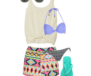 bikini, pool party, and beach image