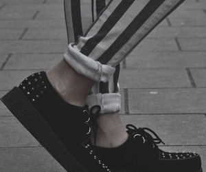 black, creepers, and white image