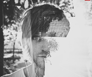 boy, photography, and double exposure image