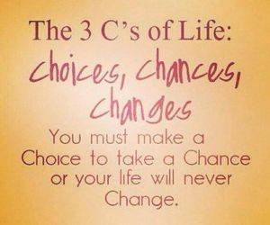 change, choice, and chance image