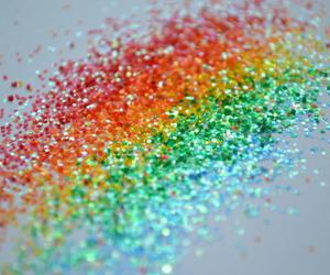 rainbow glitter image