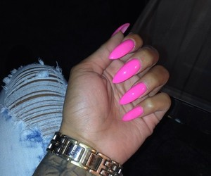 jean, pink, and nials image