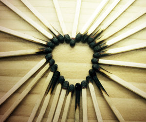 black, heart, and cuute image