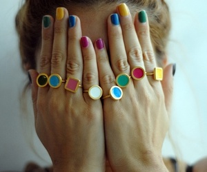 nails, colors, and rings image
