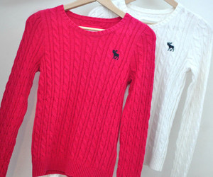 sweater, pink, and white image