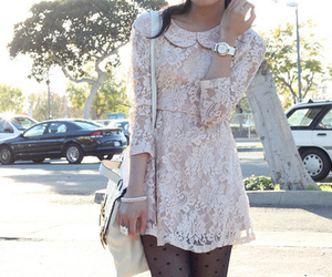fashion, lace, and dress image