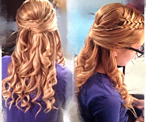 curls, hair, and hairstyle image