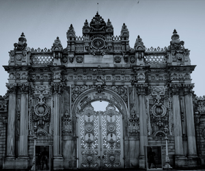 gothic, black and white, and gray image