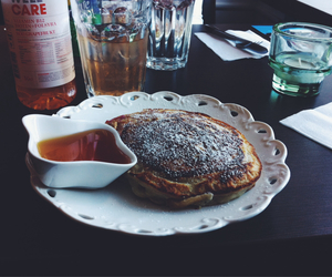 delicious, hungry, and pancake image